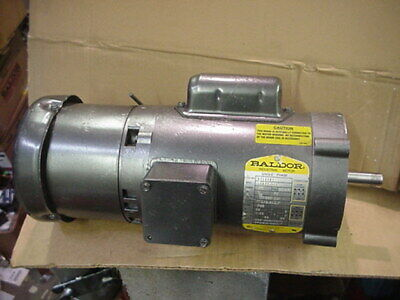 Baldor Kbl3409 12hp Single Phase 1ph 115-208230v Ac Brake Motor 56c Face Mount
