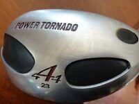 Kasco 44 Power Tornado 23 degree utility club + cover