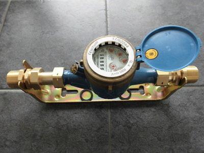 """Wasserzählerbügel mit Verschraubungen 1/"""" AG 2250 2570001 f Wasseruhr 190mm lang"""