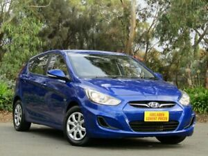 2011 Hyundai Accent RB Active Blue 6 Speed Manual Hatchback Melrose Park Mitcham Area Preview