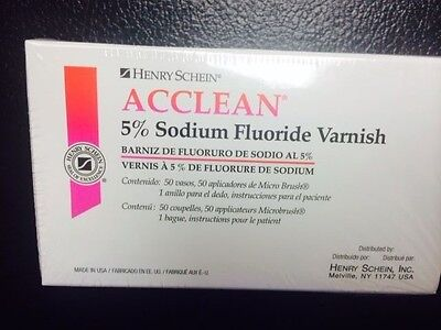 5 Sodium Fluoride Varnish Mint Flavor 50box Made In Usa 4 Flavors Available