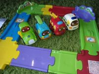 VTech Toot-Toot Drivers 30 psc Track Set + ambulance + fire engine + tractor + tow truck