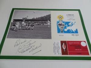 CELTIC FC 1967 EUROPEAN CUP FINAL LEGEND RONNIE SIMPSON SIGNED REPRINT A4 PRINT
