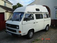T25 VW CAMPER, WITH RIGID HARD TOP, SLEEPS 4