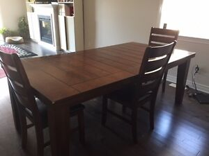 Canadian hard maple dining table