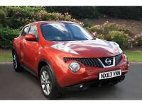 Nissan Juke Acenta 2013 automatic ONLY 9000 MILES full Nissan service histroy one owner from new