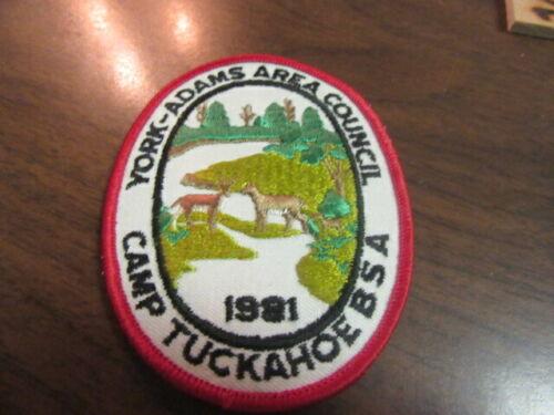 Camp Tuckahoe 1981 Pocket Patch       c43