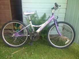 Girls Bike - 18 speed. Suit 8 - 10 year old. Melody. Good condition. Rides nicely