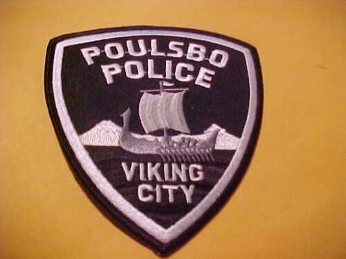 POULSBO WASHINGTON POLICE PATCH SHOULDER SIZE UNUSED*************