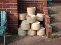 PLANTERS: COTSWOLD STONE HALF BARREL