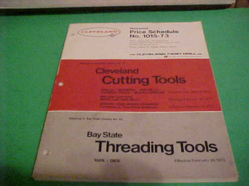 VINTAGE ORIGINAL 1973  BAY STATE TREADING TOOLS CATALOG CLEVELAND CUTTING TOOLS