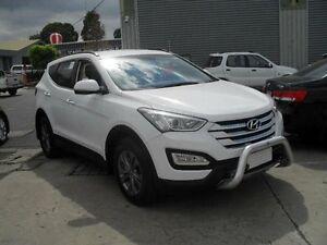 2015 Hyundai Santa Fe DM MY15 Active CRDi (4x4) Creamy White 6 Speed Automatic Wagon Moorabbin Kingston Area Preview