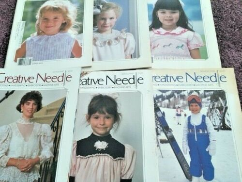 SMOCKING CREATIVE NEEDLE MAGAZINE, 1990 COMPLETE W/ALL PATTERNS