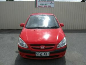 2007 Hyundai Getz TB Upgrade 1.6 Red 4 Speed Automatic Hatchback Windsor Gardens Port Adelaide Area Preview