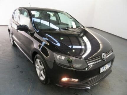 2015 Volkswagen Polo 6R MY16 66 TSI Trendline Deep Black Pearl Effect 7 Speed Auto Direct Shift Albion Brimbank Area Preview