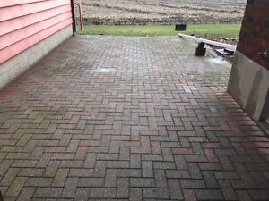8x4x2 red and grey patio stones