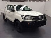 2015 Toyota Hilux GUN126R SR (4x4) White 6 Speed Automatic Dual Cab Chassis Fyshwick South Canberra Preview
