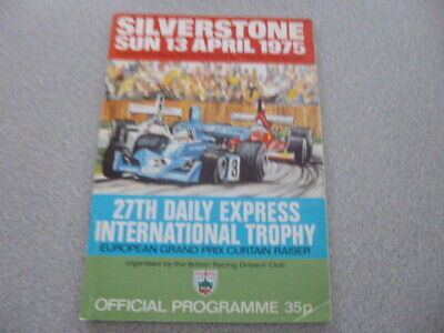 1975 F1-International Trophy-Silverstone Programme-Unmarked for sale  Chatham