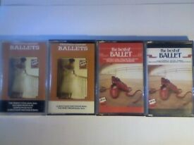 RARE. THE BEST OF BALLET MUSIC PRERECORDED CASSETTE TAPES.