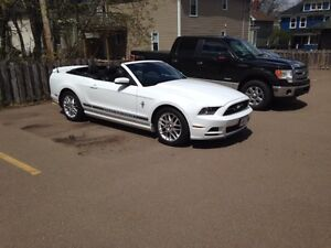Mustang 2014 White Convertible