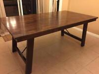 Solid Wood Brockton Dining Table with wrought iron