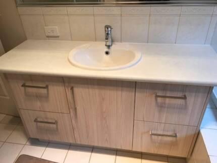 2 bathroom vanities, taps, mirrors etc- built this year