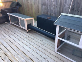 Rabbit Hutches x 2 off. can be linked with tube as seen