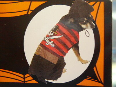 Dog Size Medium Pirate Costume NEW Adorable Pet Outfit 14-15