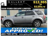 2008 Ford Escape LIMITED 4WD $129 bi-weekly APPLY NOW DRIVE NOW