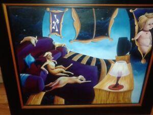 Tableau, peinture, huile sur toileSignée France Beaulieu