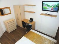 ○• Lovely Double with TV near Stratford in Leyton. Close To Amenities. 10-15min City Zone 1 •○