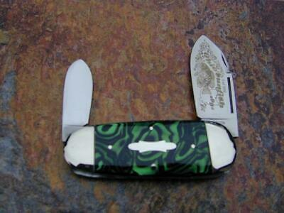 FRANK BUSTER FIGHT'N ROOSTER BLACK & GREEN SUNFISH TOE NAIL KNIFE RARE 1 OF 100