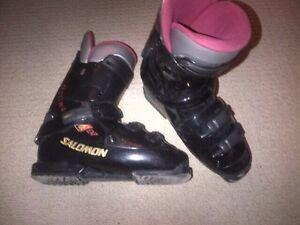 Salomon rear-entry ski boots - size 10 men's