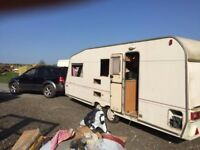 TWIN AXLE CARAVAN FOR SPARES OR AS TRAILER PROJECT