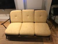 Ercol 3 seater sofa, reupholstered original cushions