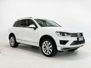 2017 Volkswagen Touareg 7P MY17 V6 TDI Pure White 8 Speed Automatic Wagon Cooee Burnie Area Preview