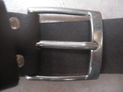 "men's new brown leather belt size M 34"" waist"