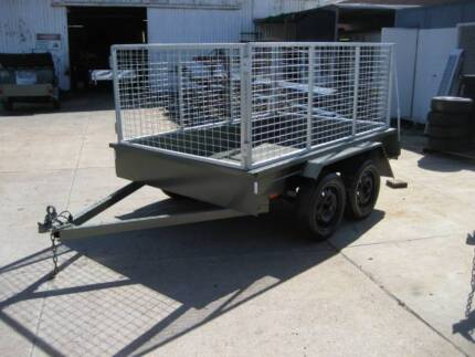 8 x 5 tandem trailer with cage - Australian made and Licensed Welshpool Canning Area Preview