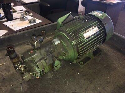 Vickers Hydraulic Pump PVB6-RSY20 CM 11-JA-S28 w/ 3 HP Tokyo AC Motor, 220V