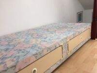 Single bed base with two drawers