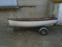 10 Foot GRP Dinghy and Trailer