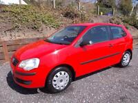 VOLKSWAGEN POLO 1.2 E 3d 68 BHP LOW FINANCE RATES APPLY ON OUR WEB (red) 2008