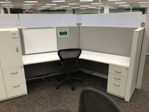 Used Office Cubicles, Steelcase Answer Cubicles 5x5