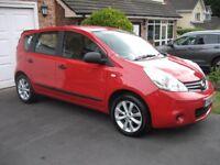 2012 12 Nissan Note 1.5 dCi Visia Diesel 36000 MIlES FNSH Red £20 A Year Tax 12 MONTHS MOT