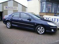 2009 PEUGEOT 407 2.0L HDI SPORT, 4 DOOR SALOON IN METALLIC BLUE WITH SAT NAV!!!!!!!!!!!!!!!!
