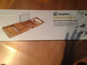 Brand New Utoplike Bamboo Bathtub Caddy