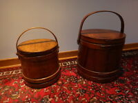 Antique Firken {sugar} Buckets 2  .c 1890