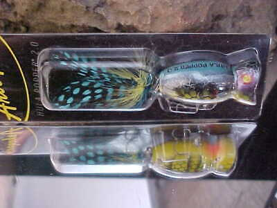 Arbogast Hula Popper G760-01 in REDHEAD//WHITE TopWater Lure for Bass//Pickerel