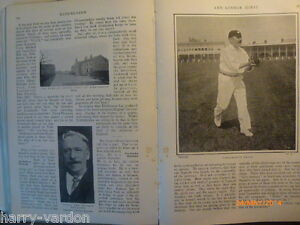 Old-Photo-Article-1904-Hirst-Yorkshire-Cricket-Kirkheaton-Cowes-Goodwood-Archery