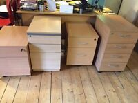 **FREE** 4 x light oak effect office pedestals, no keys. Available now for uplift.